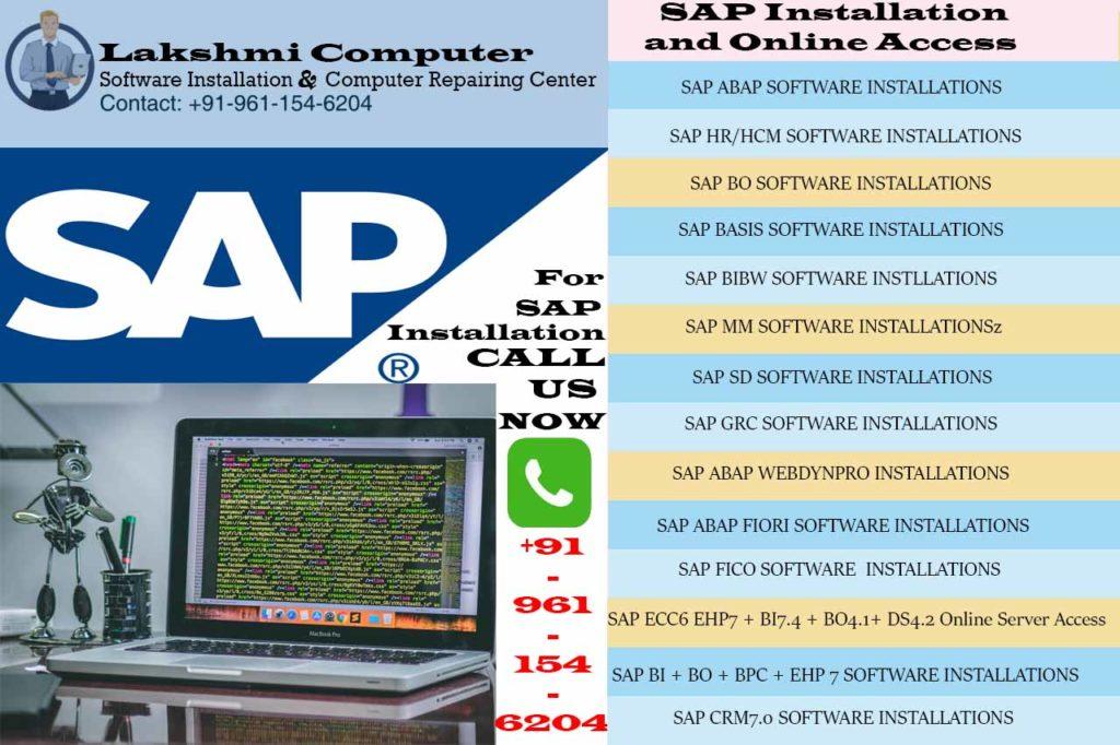 SAP Installation in Bangalore   Software Installation   Lakshmi Computer